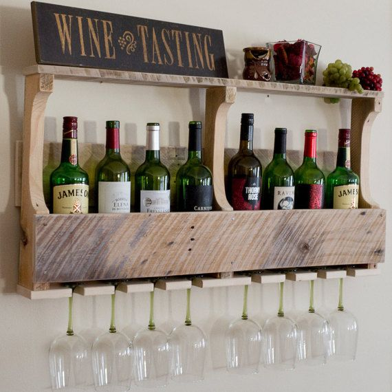 SPRING SALE Unfinished Wine Rack Pallet Wine by GreenmanRustics
