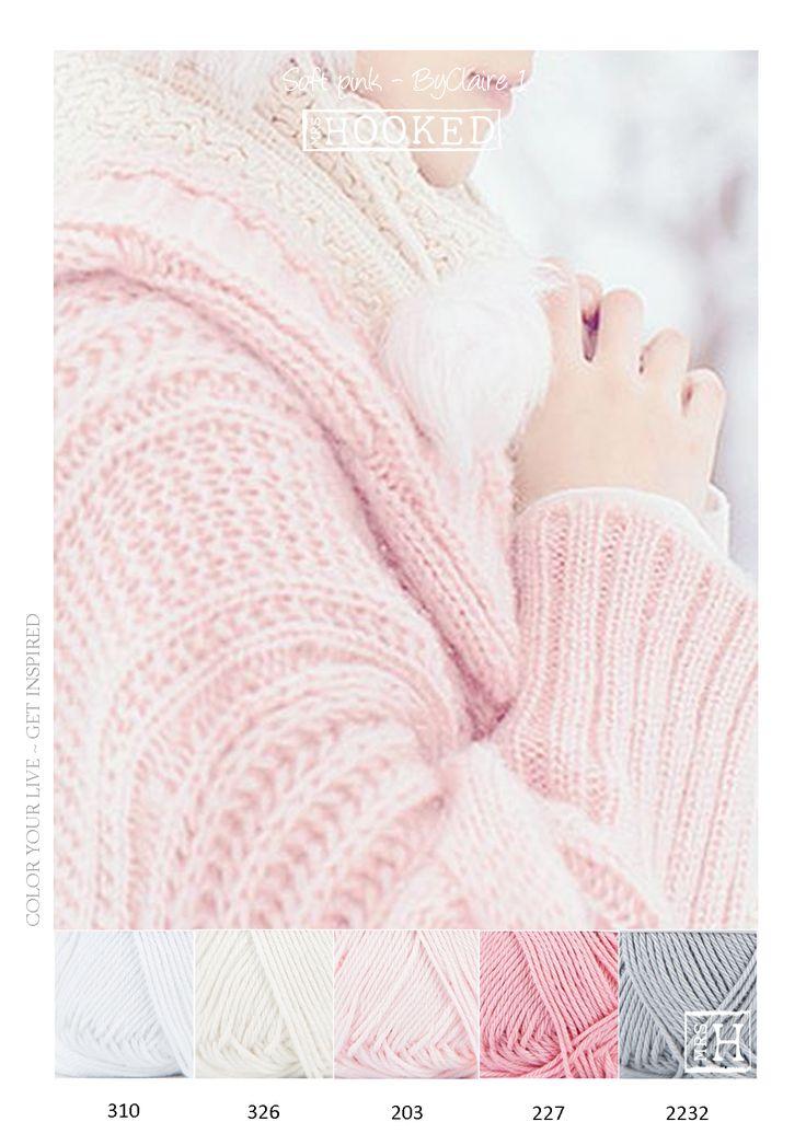 Kleurinspiratie soft - Zachte tinten roze en grijs van het mooie garen ByClaire 1