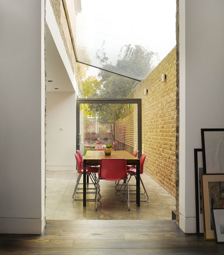 Glass lean to = Chic and modern take on a conservatory