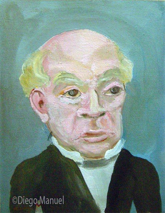 Domingo Faustino Sarmiento . Cuadro en venta de la Serie Historia Argentina del artista plastico Diego Manuel