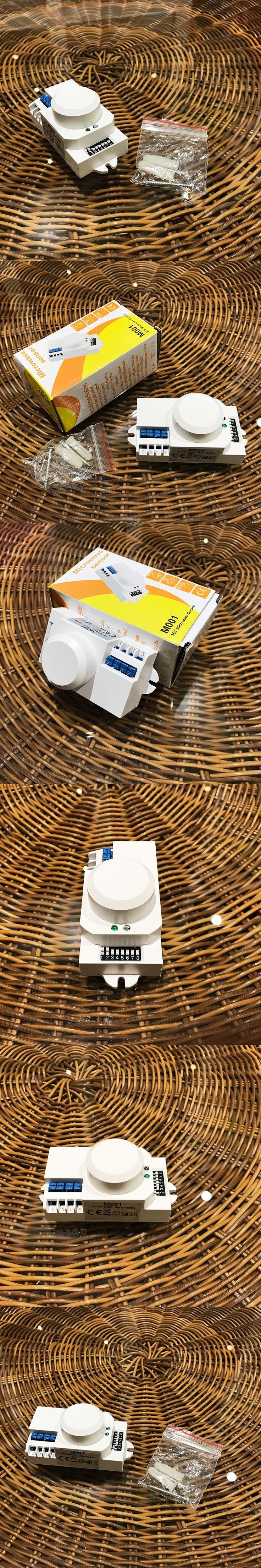 high-frequency microwave sensor 220v 360 degree Microwave Sensor Light Switch Induction Microwave Motion Sensor Max 1200w CM096