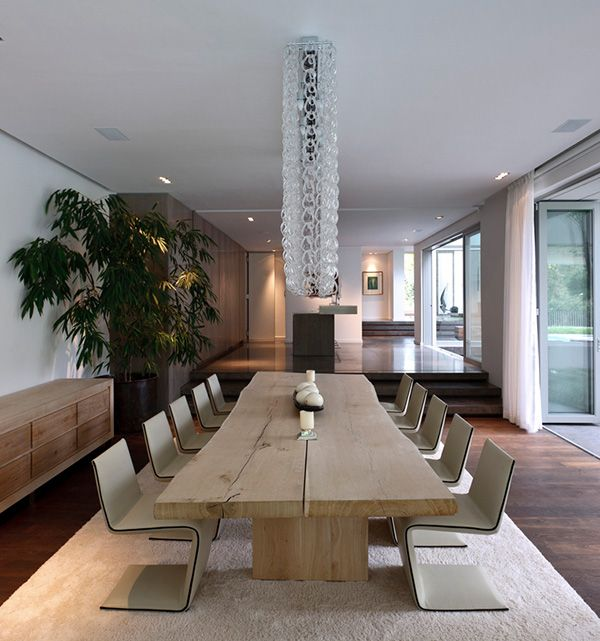 Silverhurst House By SAOTA VIVID And Antoni Associates In Cape Town South Africa What A Great Wooden Table Love The Chairs With It Too