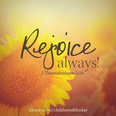Day 13: Be Joyful Always   ~ Jeanie Benson