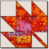 maple leaf free quilt block pattern