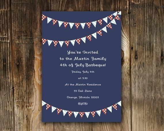 4th of july invitation
