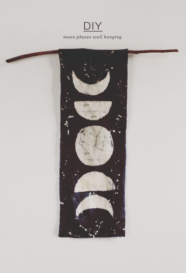 diy: moon phases wall hanging