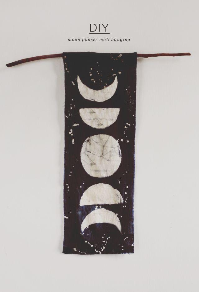 DIY: moon phases wall hanging