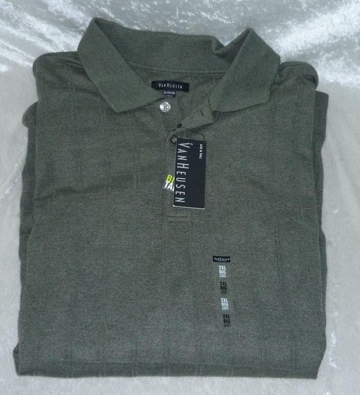 Van Heusen Mens Big Tall Polo Shirt Windowpane Jaspe size 2XL NEW https://www.ebay.com/itm/253238122809