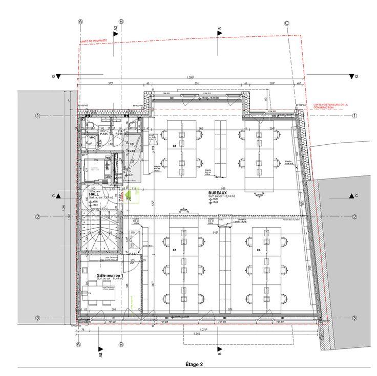 Burnt Wood Office,Second Floor Plan