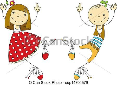 Vector - girl and boy - stock illustration, royalty free illustrations, stock clip art icon, stock clipart icons, logo, line art, EPS picture, pictures, graphic, graphics, drawing, drawings, vector image, artwork, EPS vector art