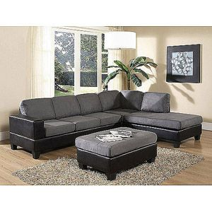 Dallin sectional sofa gray walmart i want and the o39jays for Walmart grey sectional sofa