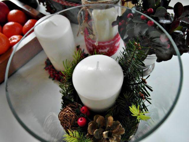 Christmas composition; Kompozycja świąteczna DIY