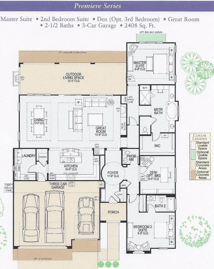 Ranch Floor Plan Split Bdrm 2 Into Two Bedrooms With Access To Bathroom And Make The Den
