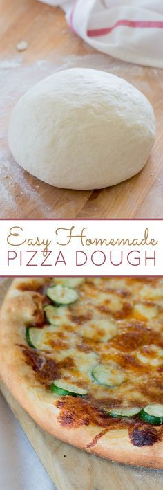 This basic Homemade Pizza Dough recipe works well in a standing electric mixer, but it's super satisfying to prepare it by hand, too.
