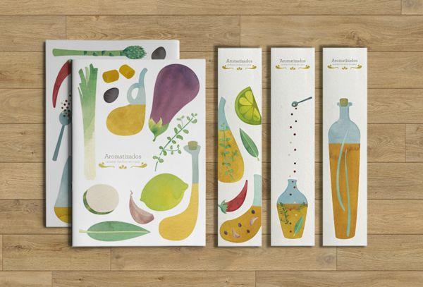 Flavored oils | Book by Ana Rodríguez, via Behancewww.behance.net/pintandolamona