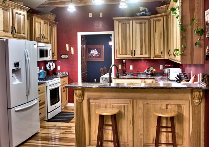 kitchen paint colors with hickory cabinets 15 best hickory cabinets images on hickory 21880