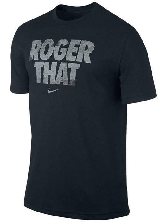 Roger [Federer] that!