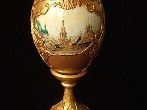 Декорирование пасхального яйца в русском стиле   Ярмарка Мастеров - ручная работа, handmade