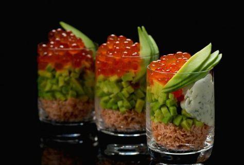 10 aperitivos salados para servir en vasitos de vidrio - El Gran Chef