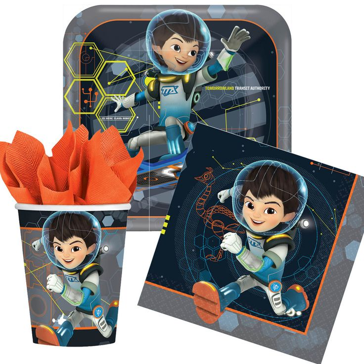 Miles from Tomorrowland Tableware Party Set - 8 Guests | Napkins, Plates, Cups