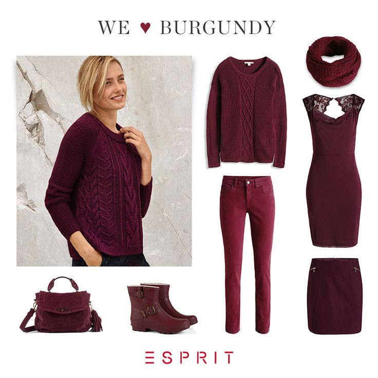 We <3 burgundy! This warm shade of #color is the perfect #eye-catcher for dreary days.