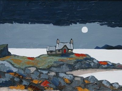 David BARNES - Moonlight over the Bay