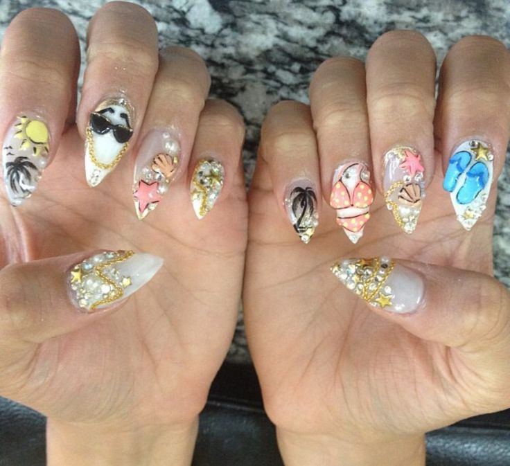 The 25 best summer stiletto nails ideas on pinterest stiletto summer stiletto nails prinsesfo Image collections