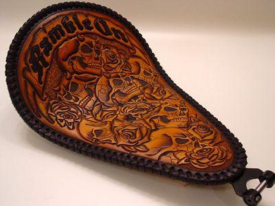 handmade leather chop seats