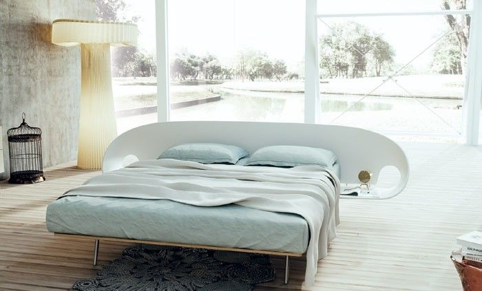 Bed and bedside, all included. That's #infolio bed by #Caccaro
