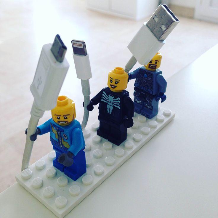 Astuce rangement - ÉcoWatt Bretagne - tuto ranger chargeur - lego