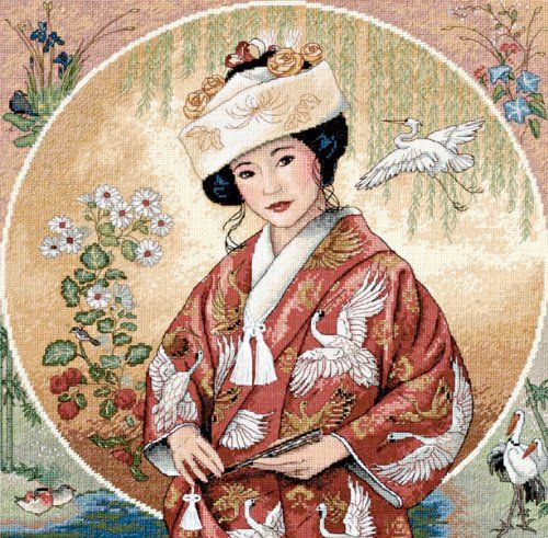 Dimensions Needlecrafts Gold Collection Counted Cross Stitch, Japanese Maiden $38.49