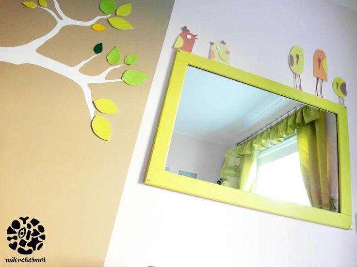 handmade decorations in girls room