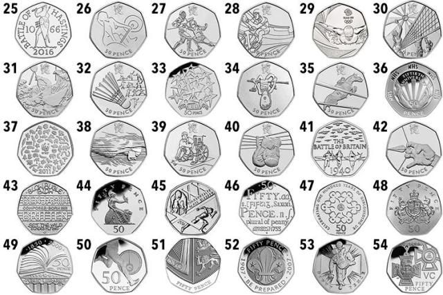 2012 London Olympic Games 50p Sports Collection Uncirculated Full Set+Album