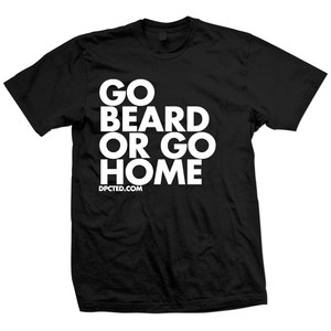 T-Shirt Go Beard Schwarz