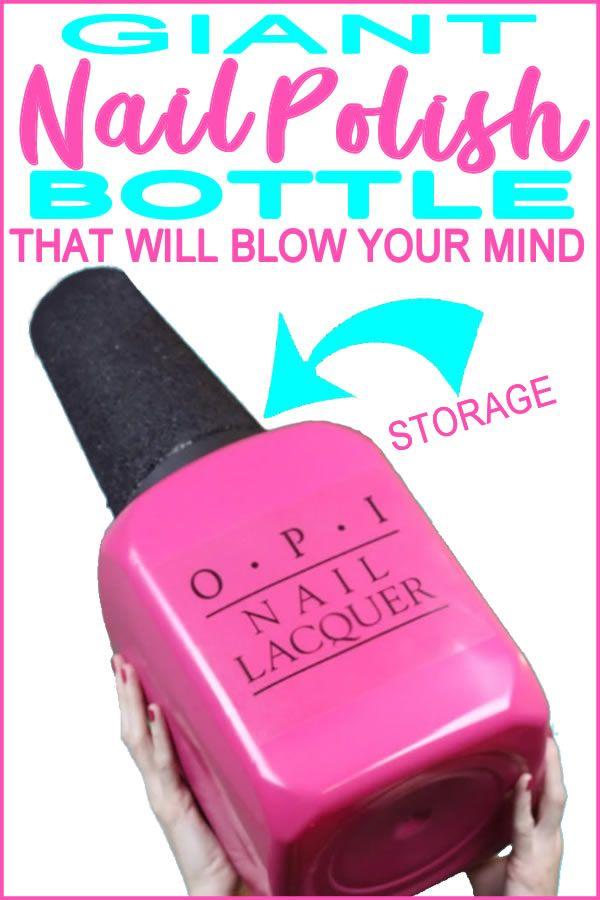 Mind Blowing Storage & Organization Ideas | DIY Giant Nail Polish Bottle Craft | Makeup – School Supplies – Bedroom – Bathroom