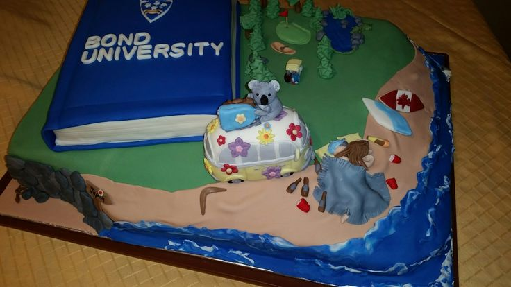 Australia Bond University Cake 2017 for Melissa and Zach