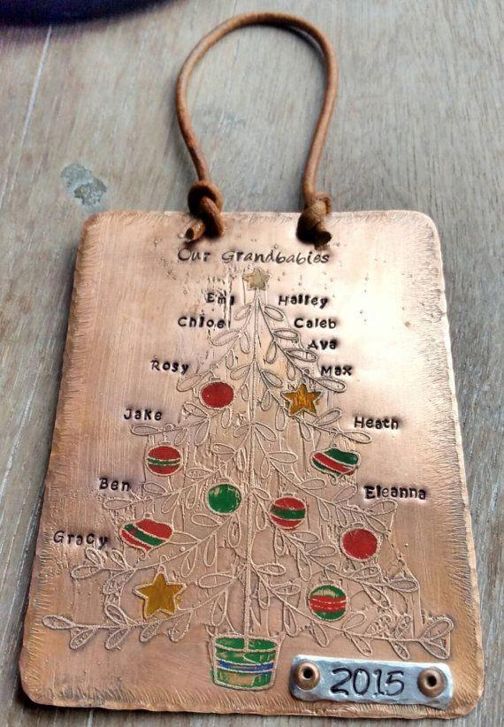 Personalized Family Christmas Ornament by KatyTrailKeepsakes