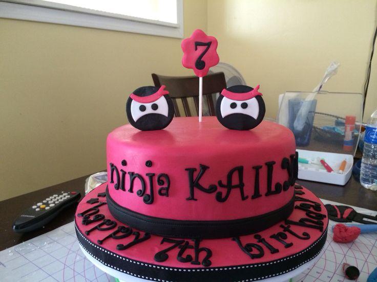 Pink ninja cake