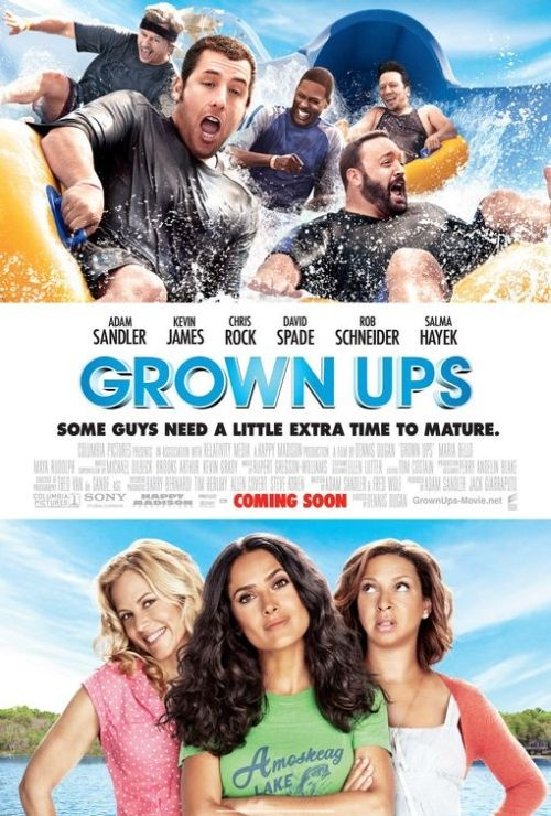 Grown Ups (2010) USA Columbia / Relativity Media Adam Sandler (+co-prod+co-sc), Chris Rock, Rob Scneider, Kevin James, David Spade, Salma Hayek, Maya Rudolph, Maria Bello, Steve Buscemi. (3/10) 11/01/17