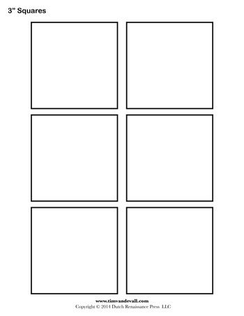 A printable square template sheet. | ZENTANGLE-B ...