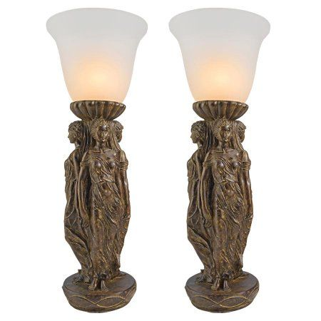 Three Graces Tabletop Torchiere Lamp Set Of Two Walmart Com Lamp Cool Floor Lamps Torchiere Lamp