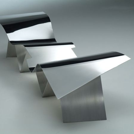 Tuyomyo - one-of-a-kind bench by architect Frank Gehry (from
