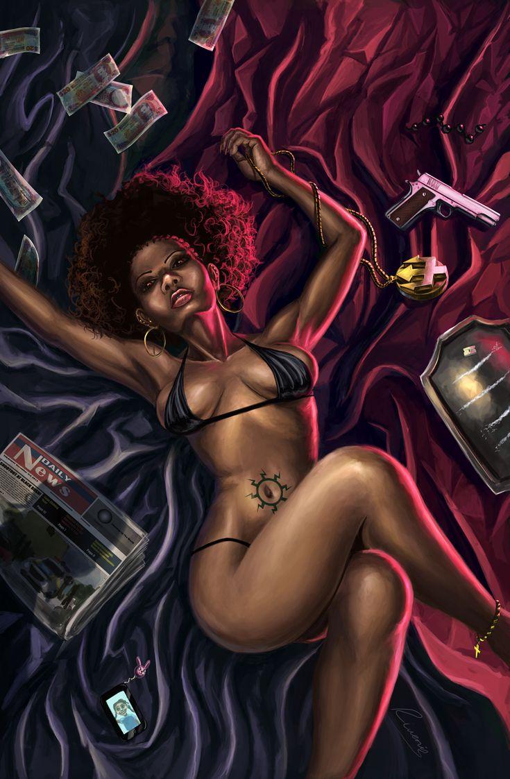 erotic sex oral African american art
