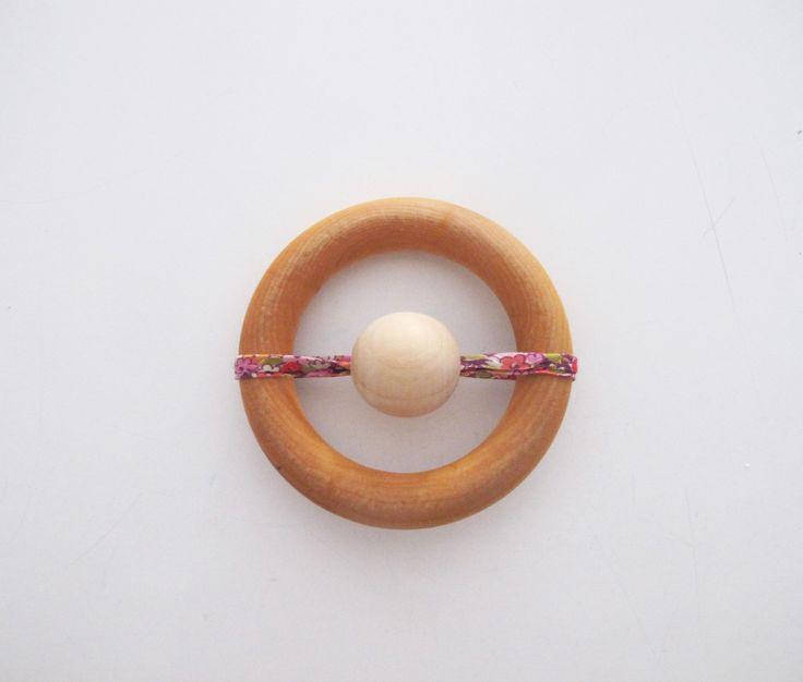 Grand anneau de dentition en bois 100% naturel, inspiration Montessori : Jeux, peluches, doudous par lelouppointu