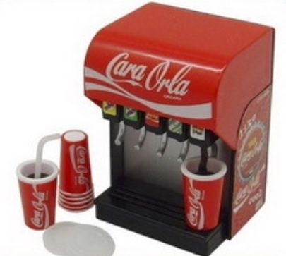REMENT size Coke style dispenser 1/6 BARBIE BLYTHE BJD (5)