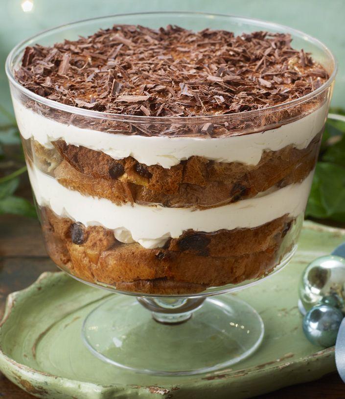 A no-cook Christmas tiramisu with panettone, amaretto and cream is a great alternative pudding.