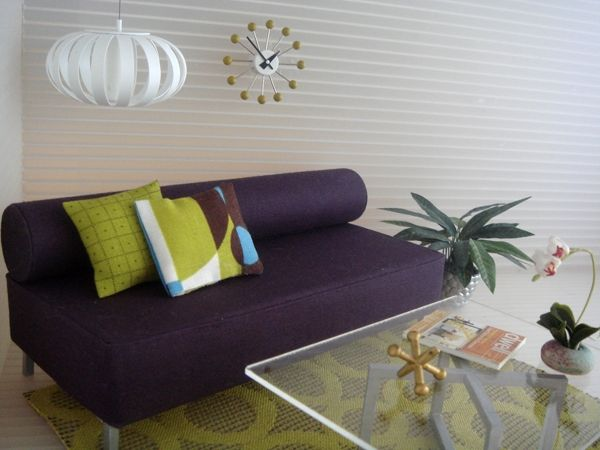 mini ribbon lamp - Mini Modernistas (can make the lamp from cardstock and metal brads...kj)