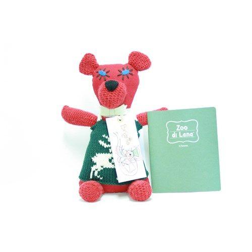 Brigitta, orso in lana e pannolenci fatto a mano Zoo di Lana