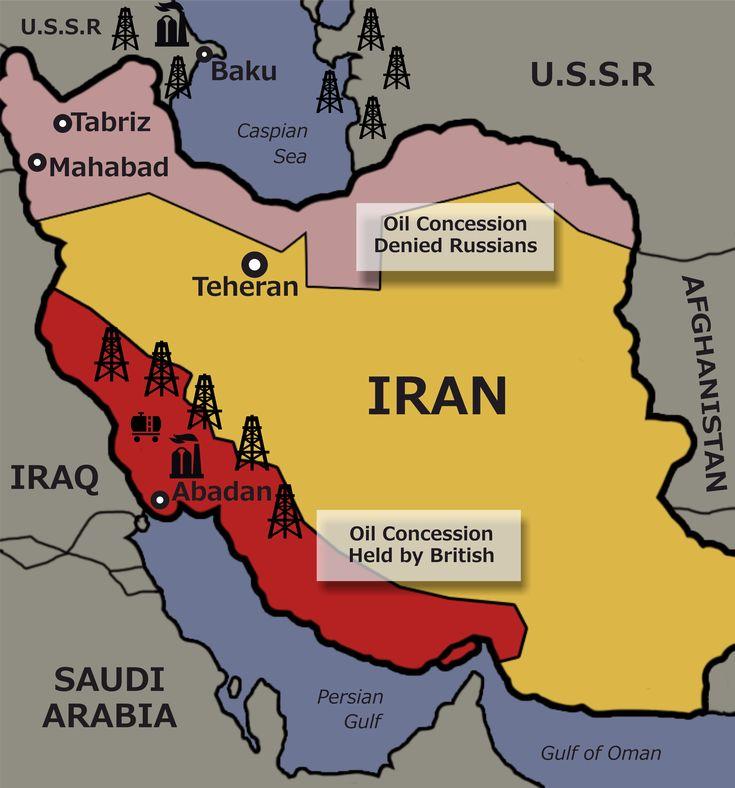 Soviet sphere of influence Iran 1946 974