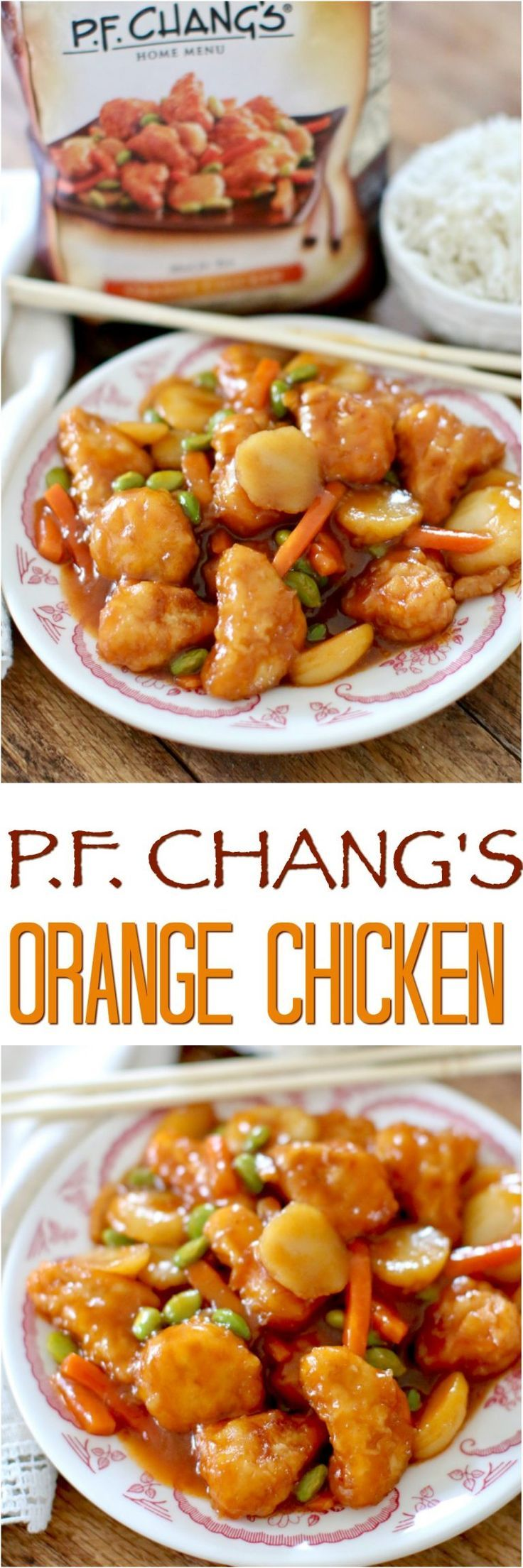P.F. Chang's Home Menu Orange Chicken featured at The Country Cook #dinner #chicken #easy